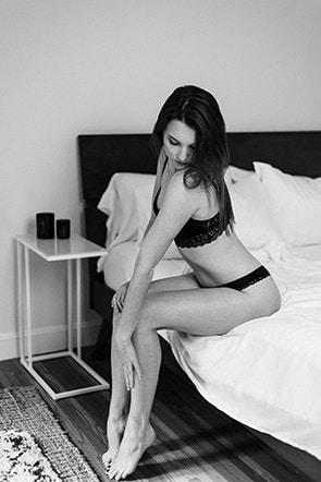 briana encinitas boudoir session
